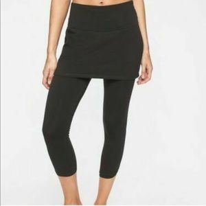 Athleta black skirt Capri leggings organic Cotton